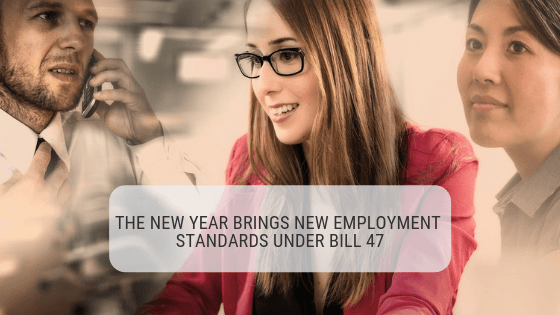 New Employment Standards Bill 148